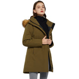 Charger l'image dans la galerie, Orolay Women's Windproof Hooded Stand Collar Down Parka OWD6110W
