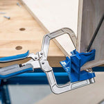 Right angle 90° woodworking clamp for holding corners get the perfect corner when building cabinets