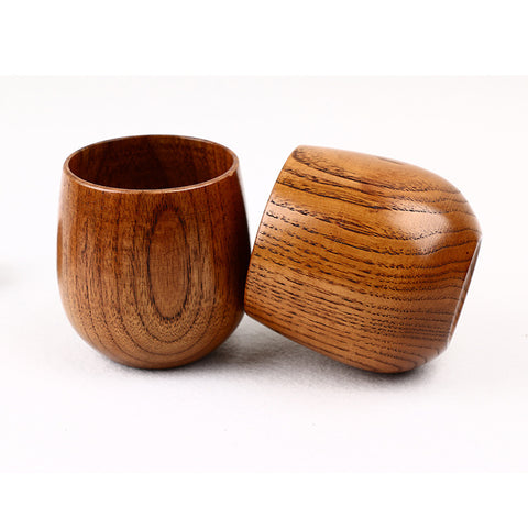 Elegant wooden cup tableware dark Japanese jujube wood water tea coffee mug