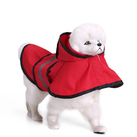 Reflective raincoat for dog waterproof safety rain jacket jumpsuit poncho for your pet