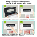Automatic vacuum air sealer food preservation packager machine with free 10pcs bags