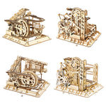 3D laser cut action wooden log coaster maze runner puzzle DIY kit
