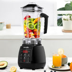 3HP professional blender with digital touch pad and BPA free 2 liter pitcher jar plus spare blade and extra pitcher jar