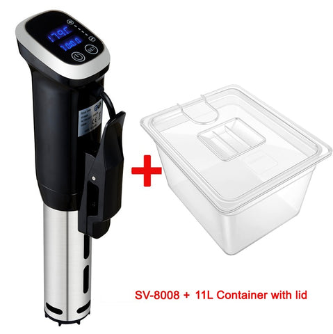 2nd generation vacuum sous vide cooker with digital LED display plus container bundle