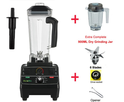 2200 watt professional pre-programmed smart timer blender with manual rotary selection controls plus extra blade and dry grinder jar