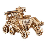 3D laser cut action wooden solar energy space exploration rover puzzle DIY kit