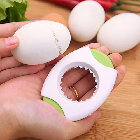 Eggshell cutter with stainless steel blade boiled egg topper opener