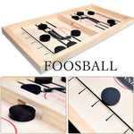 Tabletop 2 player finger catapult slingshot hockey puck board game