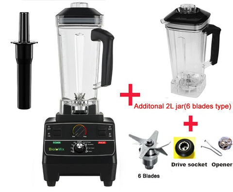 2200 watt professional pre-programmed smart timer blender with manual rotary selection controls plus extra blade and jar