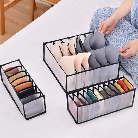 Mesh nylon bra underwear socks wardrobe drawer organizer bundle