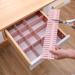 Adjustable DIY drawer storage partition board dividers