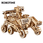 3D laser cut action wooden solar energy space truck puzzle DIY kit