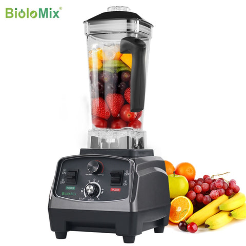 3HP 2200W heavy-duty commercial grade blender with automatic timer and BPA free 2L jar
