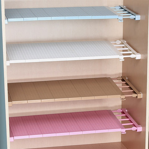 Adjustable DIY decorative wall mounted closet organizer storage shelf