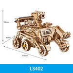 3D laser cut action wooden solar energy space hunting puzzle DIY kit