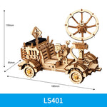 3D laser cut action wooden solar energy space buggie puzzle DIY kit