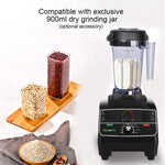 2200 watt professional pre-programmed smart timer blender with manual rotary selection controls plus extra blade