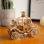 3D laser cut vintage gramophone DIY assembly wooden puzzle kit