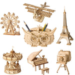 3D laser cut grand piano DIY assembly wooden puzzle kit
