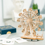 3D laser cut Eiffel Tower model DIY assembly wooden puzzle kit