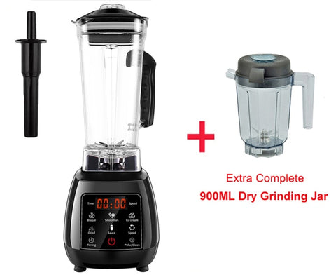 3HP professional blender with digital touch pad and BPA free 2 liter pitcher jar plus dry grinder jar