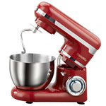 6-speed stand mixer and stainless steel bowl with dough hook whisk and flat beater