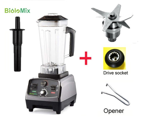 3HP 2200W heavy-duty commercial grade blender with automatic timer and BPA free 2L jar and spare parts bundle