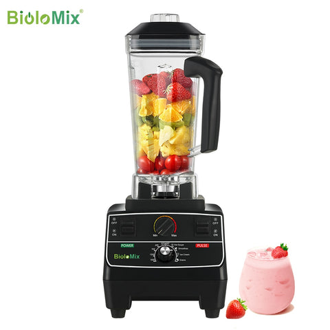2200 watt professional pre-programmed smart timer blender with manual rotary selection controls