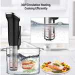2nd generation vacuum sous vide immersion circulator cooker with digital LED display
