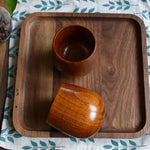 Natural 200 ml jujube wooden cup with a classic high gloss finish