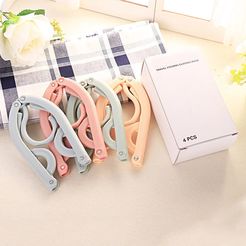 Collapsible folding portable clothing hanger non-slip foldable hooks
