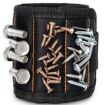 Strong magnetic wristband for easy access to small parts screw nail and tool storage