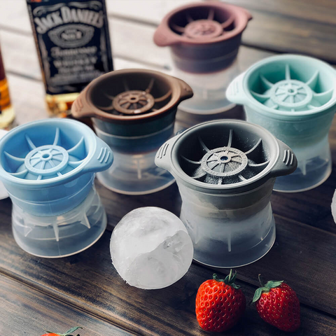 Large round ice ball silicone mold spherical whiskey ice ball mold