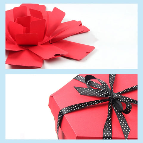 Lovely surprise explosion gift box great for Valentine's Day or anniversary gifts