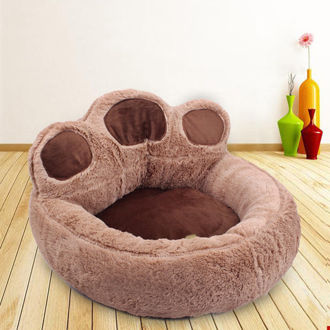 Cute puppy paw dog pillow bed pet kennel mat
