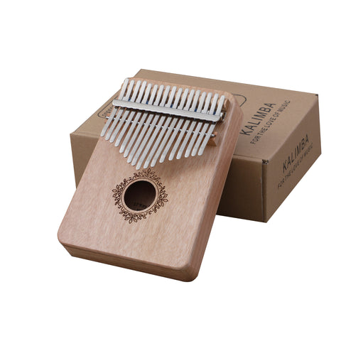 Kalimba wood 17 key finger or thumb piano with 17 different tones - complete kit