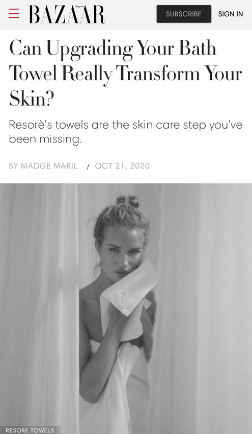 Can Upgrading Your Bath Towel Really Transform Your Skin?