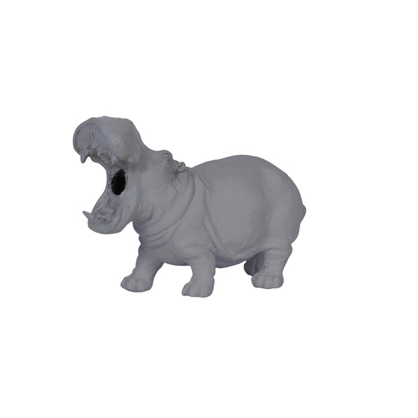 Small Grey Hippo Light