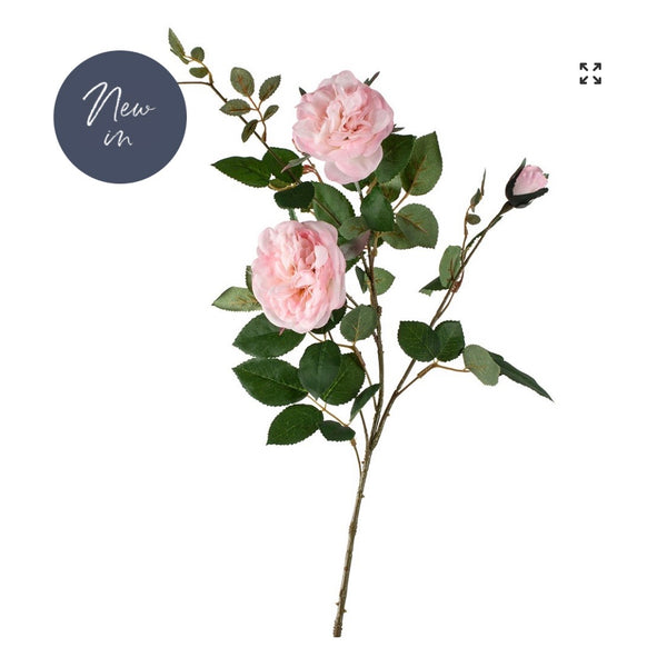 Soft Pink Rose Spray 90cm
