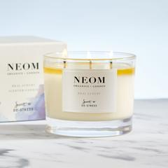 Neom 3 Wick Candle - scent to destress Real Luxury