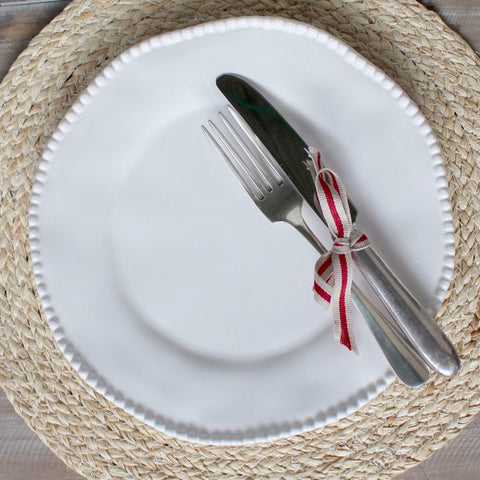 White Bobble Dinner Plate