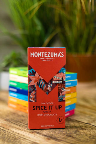 Montezuma Spice it Up - Dark with Ginger Pieces