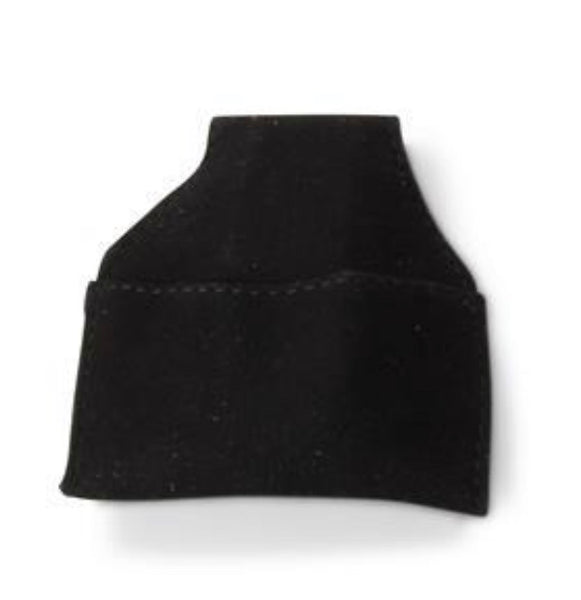 Chalk Pouch - Suede- Black or Red -