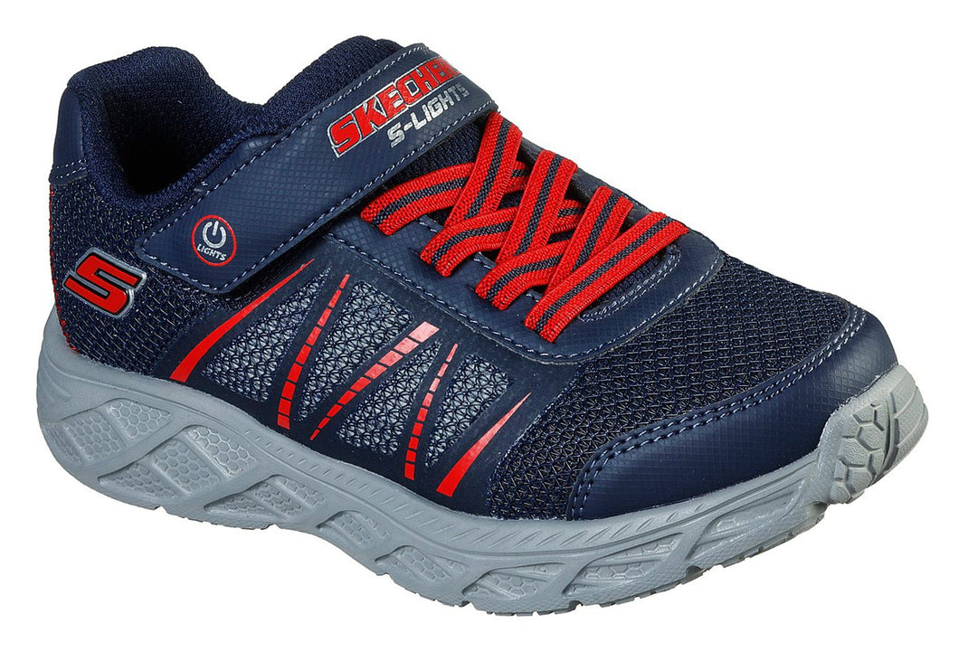 Skechers Dynamic Flash Navy Red Trainers