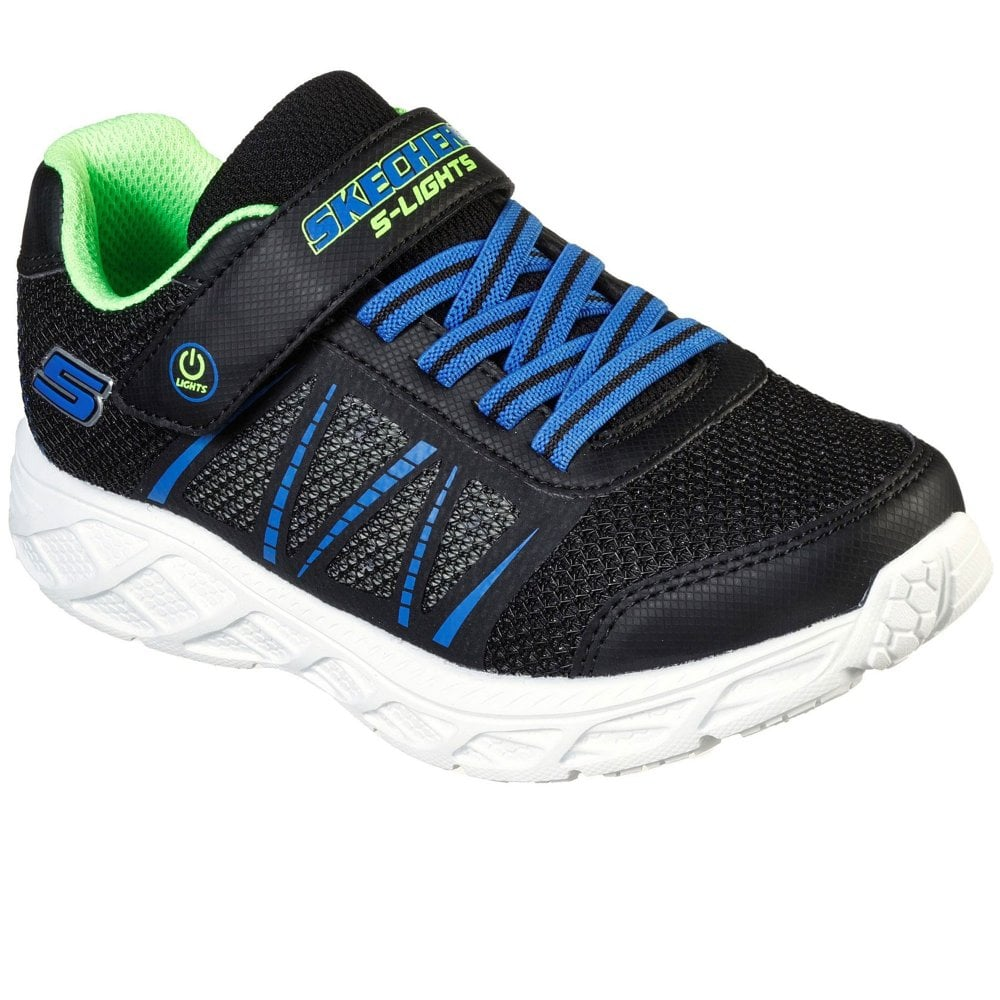 Skechers Dynamic Flash Navy Lime Trainers