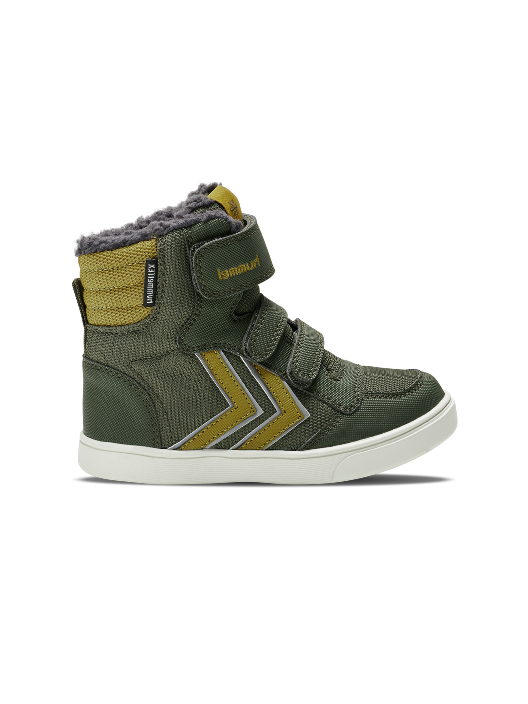 Hummel Stadil Super Poly Olive Night High Top Trainer Winter Boot