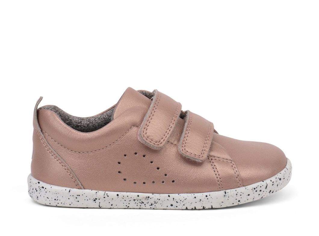 Bobux I Walk Grasscourt Trainer Rose Gold