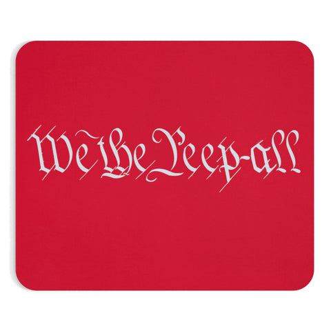 WE THE PEEP ALL Mousepad (red)
