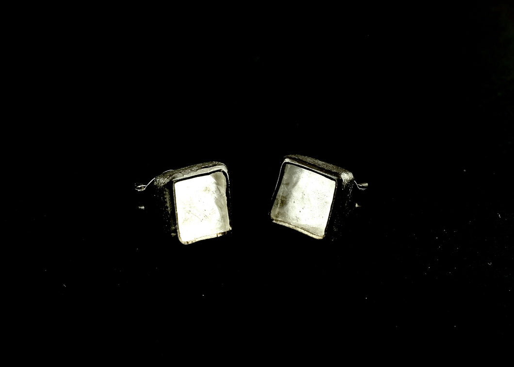 Square Quartz Stud Earring