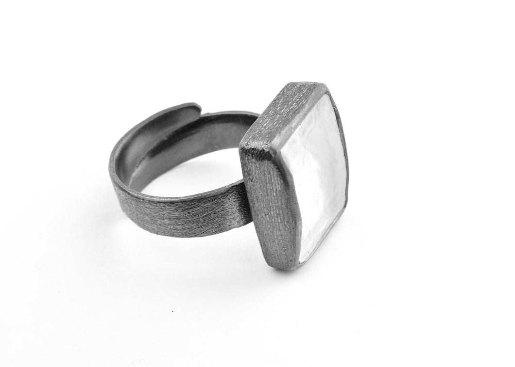 Rectangle Quartz Ring